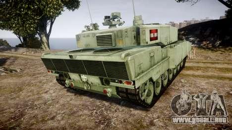 Leopard 2A7 AT Green para GTA 4 Vista posterior izquierda