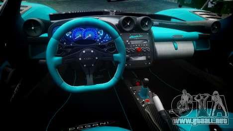 Pagani Zonda Uno para GTA 4 vista hacia atrás