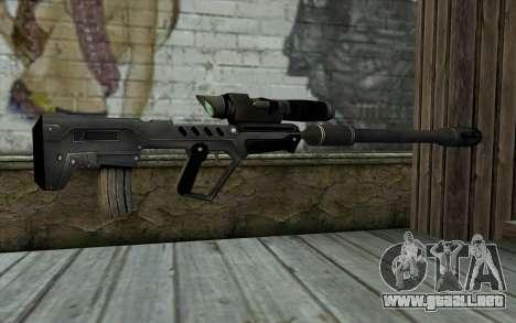 Sniper Rifle para GTA San Andreas segunda pantalla