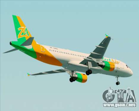 Airbus A320-200 Zest Air para vista lateral GTA San Andreas