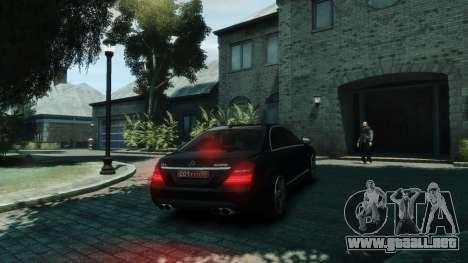 Mercedes-Benz W221 S63 AMG para GTA 4 visión correcta