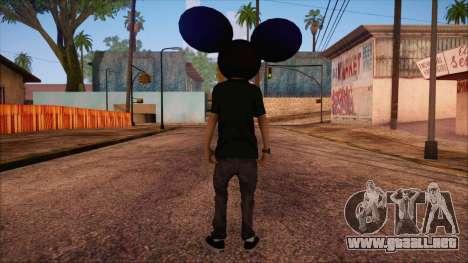 Deadmau5 Skin para GTA San Andreas segunda pantalla
