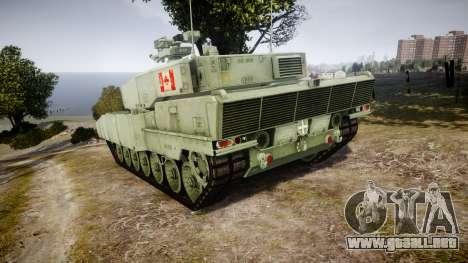 Leopard 2A7 CA Green para GTA 4 Vista posterior izquierda