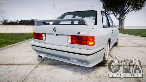 BMW M3 E30 1991 [EPM] para GTA 4 Vista posterior izquierda