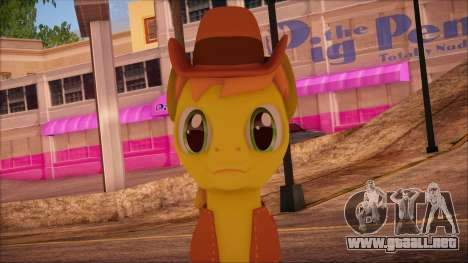 Braeburn from My Little Pony para GTA San Andreas tercera pantalla