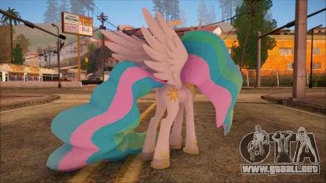 Celestia from My Little Pony para GTA San Andreas segunda pantalla