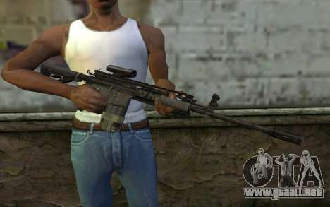 M4A1 from COD Modern Warfare 3 v2 para GTA San Andreas tercera pantalla