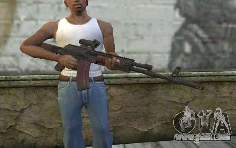 AEK from Battlefield 4 para GTA San Andreas tercera pantalla