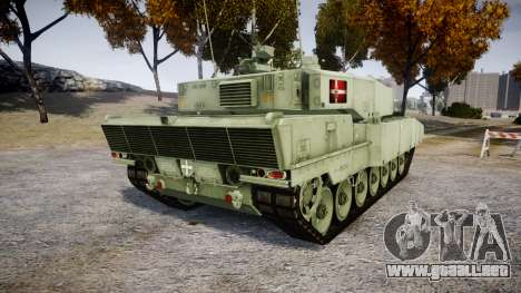 Leopard 2A7 DK Green para GTA 4 Vista posterior izquierda
