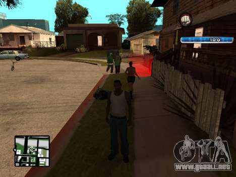 C-HUD by SampHack v.17 para GTA San Andreas tercera pantalla