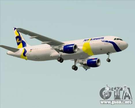 Airbus A320-200 Jet Airways para la visión correcta GTA San Andreas