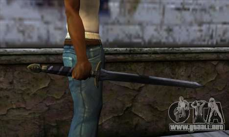 New Katana (Sword) para GTA San Andreas tercera pantalla