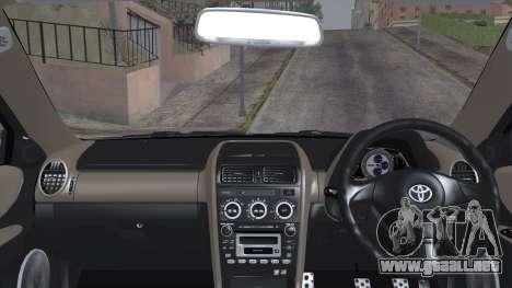Toyota Altezza (RS200) 2004 (IVF) para GTA San Andreas vista posterior izquierda