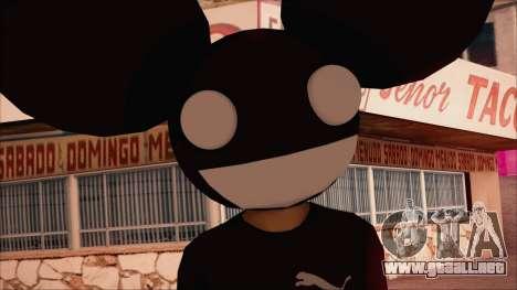 Deadmau5 Skin para GTA San Andreas tercera pantalla