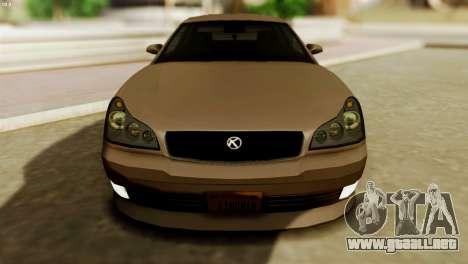 GTA 5 Intruder Tuning Bumpers para la visión correcta GTA San Andreas