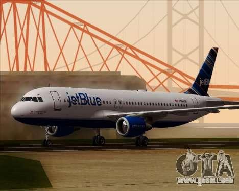Airbus A320-200 JetBlue Airways para GTA San Andreas left