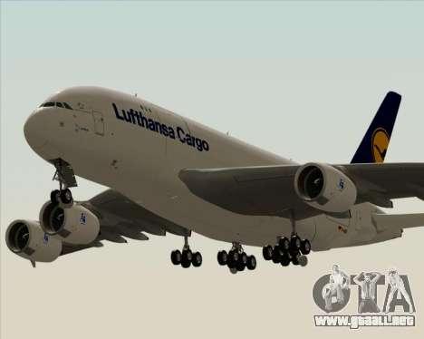 Airbus A380-800F Lufthansa Cargo para visión interna GTA San Andreas