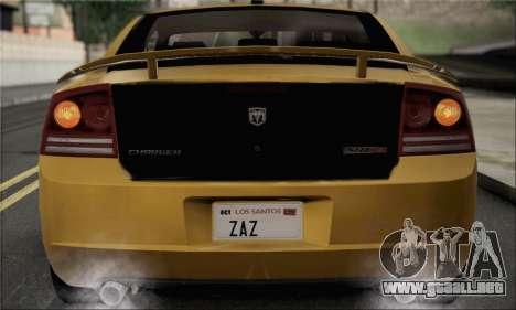 Dodge Charger SuperBee para la visión correcta GTA San Andreas