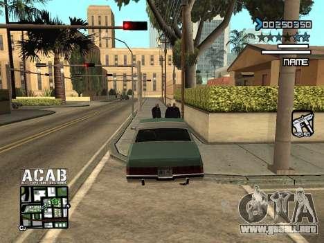 C-HUD by Edya para GTA San Andreas tercera pantalla