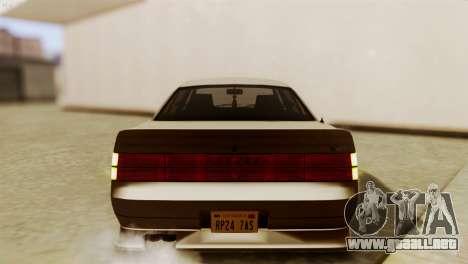 GTA 5 Intruder Tuning Bumpers para GTA San Andreas vista hacia atrás