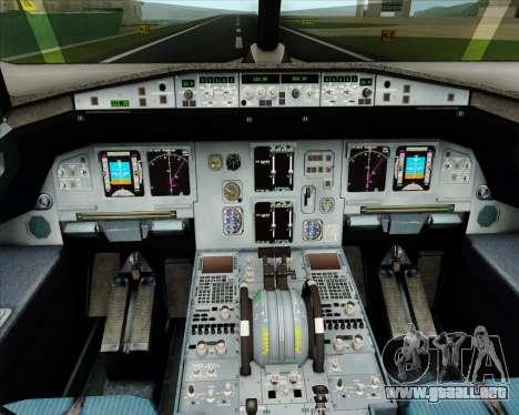 Airbus A320-200 Jet Airways para GTA San Andreas interior