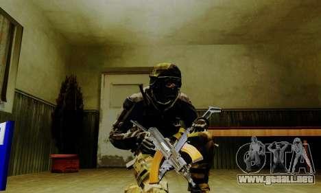 Weapon pack from CODMW2 para GTA San Andreas