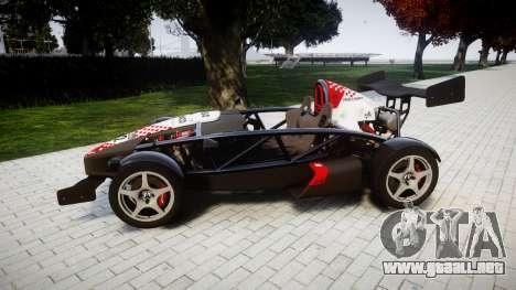 Ariel Atom V8 2010 [RIV] v1.1 Rosso & Bianco para GTA 4 left
