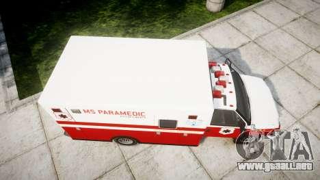 Vapid V-240 Ambulance para GTA 4 visión correcta