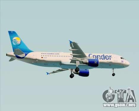 Airbus A320-200 Condor para GTA San Andreas vista hacia atrás