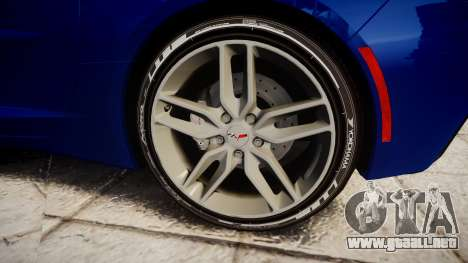 Chevrolet Corvette C7 Stingray 2014 v2.0 TireYA3 para GTA 4 vista hacia atrás