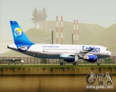 Airbus A320-200 Condor para visión interna GTA San Andreas