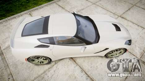 Chevrolet Corvette C7 Stingray 2014 v2.0 TireYA1 para GTA 4 visión correcta