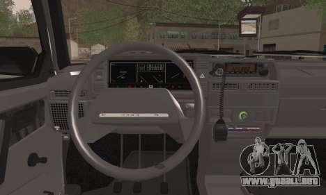VAZ 2109 PPP para GTA San Andreas vista posterior izquierda