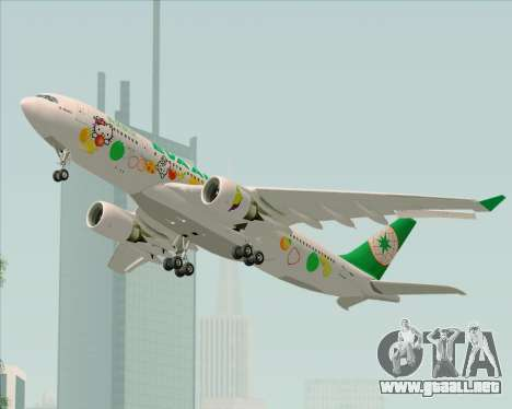 Airbus A330-200 EVA Air (Hello Kitty) para visión interna GTA San Andreas