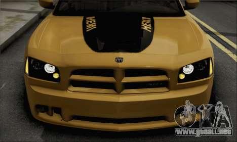 Dodge Charger SuperBee para GTA San Andreas vista posterior izquierda