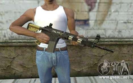 M4 MGS Iron Sight v1 para GTA San Andreas tercera pantalla