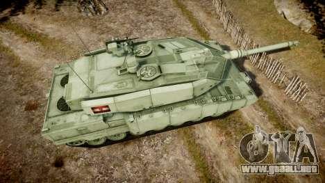 Leopard 2A7 AT Green para GTA 4 visión correcta