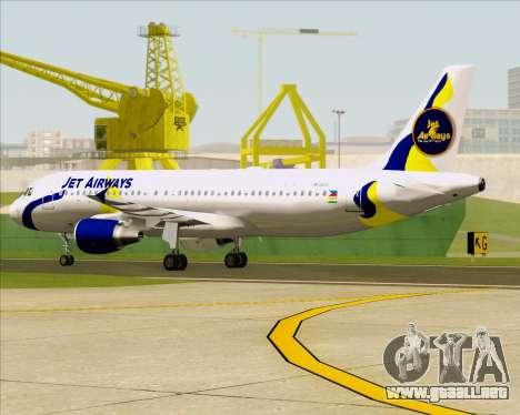 Airbus A320-200 Jet Airways para la vista superior GTA San Andreas