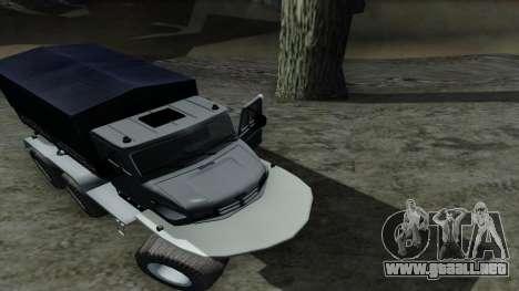 ZIL Kerzhak 6x6 para visión interna GTA San Andreas