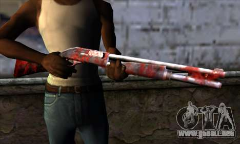 Chromegun v2 Apocalipsis para colorear para GTA San Andreas tercera pantalla