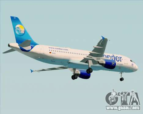Airbus A320-200 Condor para vista inferior GTA San Andreas