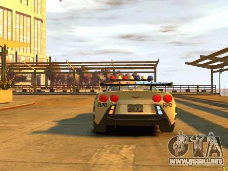 Chevrolet Corvette Z06 Police para GTA 4 visión correcta