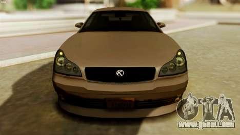 GTA 5 Intruder Tuning Bumpers para GTA San Andreas vista posterior izquierda