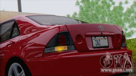 Toyota Altezza (RS200) 2004 (IVF) para visión interna GTA San Andreas