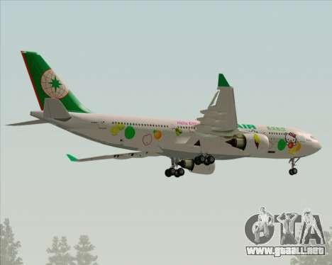 Airbus A330-200 EVA Air (Hello Kitty) para la vista superior GTA San Andreas