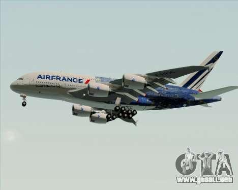 Airbus A380-800 Air France para la vista superior GTA San Andreas
