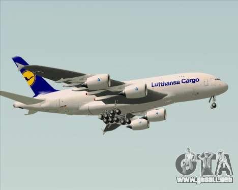 Airbus A380-800F Lufthansa Cargo para GTA San Andreas vista hacia atrás