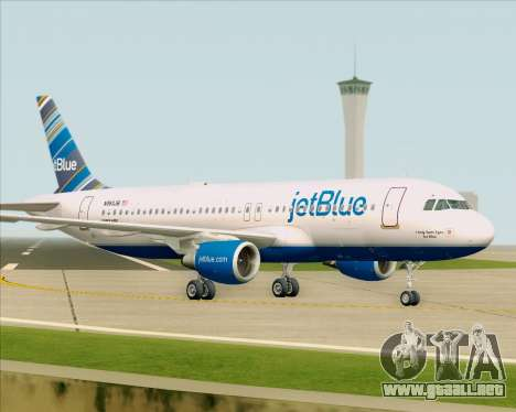 Airbus A320-200 JetBlue Airways para la vista superior GTA San Andreas
