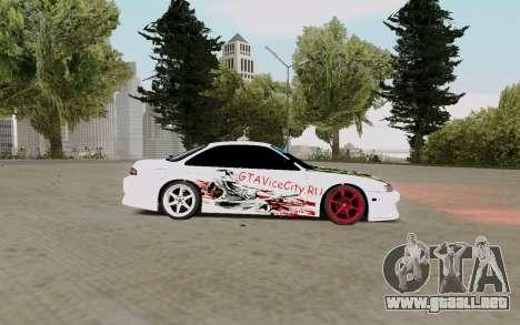 Nissan Silvia S14 VCDT para GTA San Andreas vista posterior izquierda