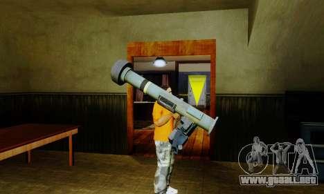 Weapon pack from CODMW2 para GTA San Andreas sexta pantalla